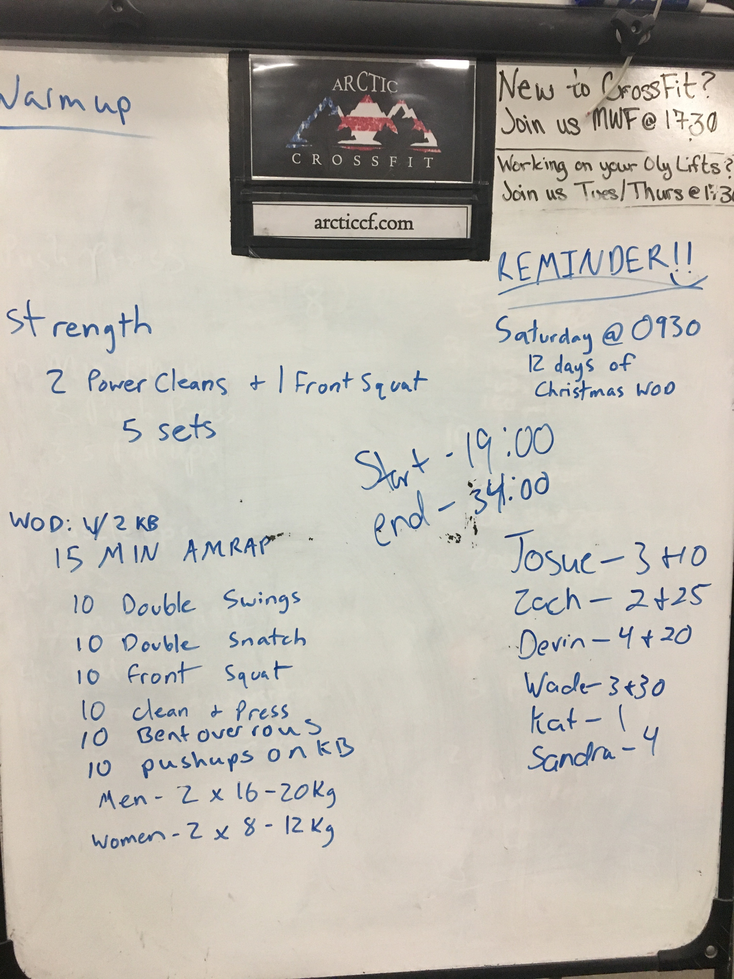 12 Days Of Christmas Crossfit Wod.Uncategorized Arctic Crossfit Page 68